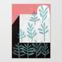 plants Canvas Prints featuring Plants by The Printed Peanut