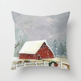 Holidays on the Homestead Throw Pillow