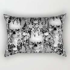 Victorian gothic lace skull pattern Rectangular Pillow