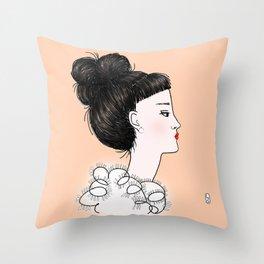 cuty orange Throw Pillow