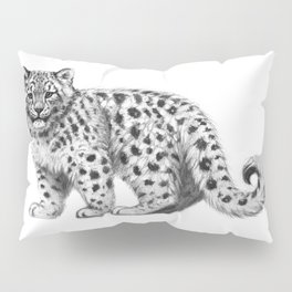 Snow Leopard cub g142 Pillow Sham
