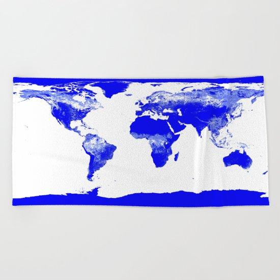 World map Beach Towel