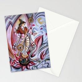 Musical Goddess Saraswati - Healing Art Stationery Cards