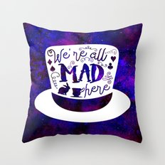 Alice In Wonderland - Mad Hatter Throw Pillow