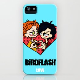 Wally West heart Dick Grayson iPhone Case