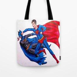 Final Showdown: Superhero Edition Tote Bag