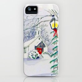 Christmas Church iPhone Case