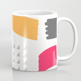 Modern triangles and happy colors Coffee Mug