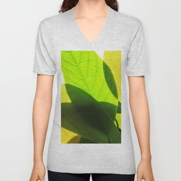 Avocado Leaves Unisex V-Neck