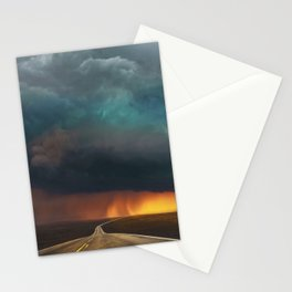 Riders on the Storm (Route 66) - The Loneliest Road in America Stationery Cards
