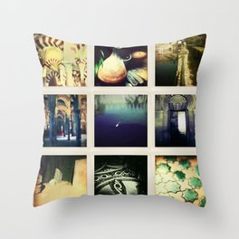 Collage Cordoba, Spain Throw Pillow