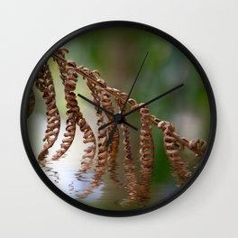 Dry fern and ripples Wall Clock