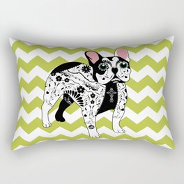 Day of The Dead (Bulldog) Rectangular Pillow