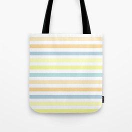 Horizontally striped , pastel 3 Tote Bag