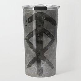 Viking bind rune 'Protection' on moon. Travel Mug