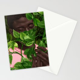 Green Mask Stationery Cards