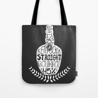 whisky Tote Bags featuring Kentucky Whisky by Geryes