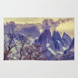 Snowy Andes Mountains, El Chalten, Argentina Rug