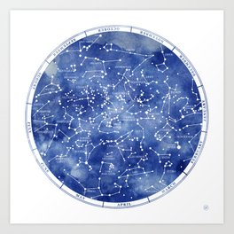 Star Map II Art Print