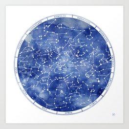 Star Map II Art Print