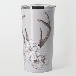 antler and magnolia Travel Mug