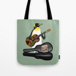 Penguin Busking Tote Bag
