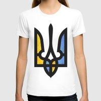 ukraine T-shirts featuring Emblem of Ukraine by Broncos