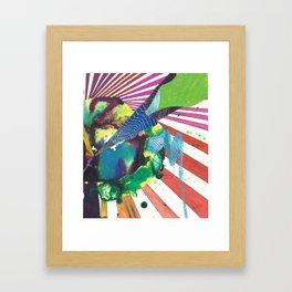 Straight Into Outerspace Framed Art Print