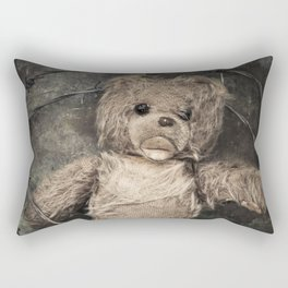 trapped teddy bear Rectangular Pillow