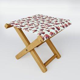 Red Panda Pattern Folding Stool