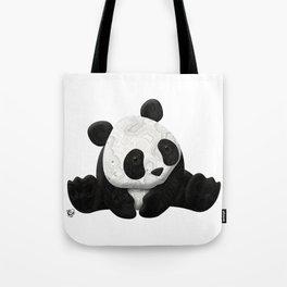 Lace Agate Panda Tote Bag
