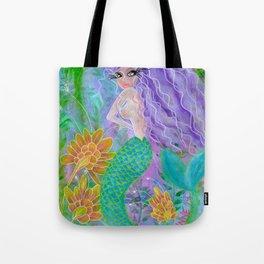 Purple Mermie Tote Bag