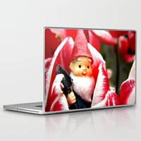 gnome Laptop & iPad Skins featuring Gnome Blossom by Thedustyphoenix