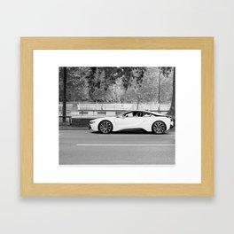 BMW i8 on park lane Framed Art Print