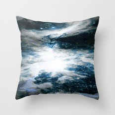 Orion Nebula Blue & Gray Throw Pillow