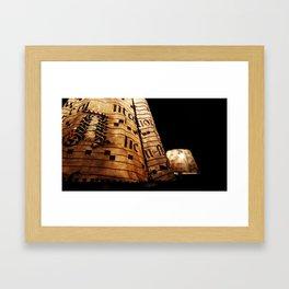 Lighting at the Castle Framed Art Print