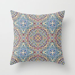1,000 Origami Crane Kaleidoscope  Throw Pillow