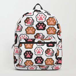 Kitten Paws Pattern from all walks of life Backpack