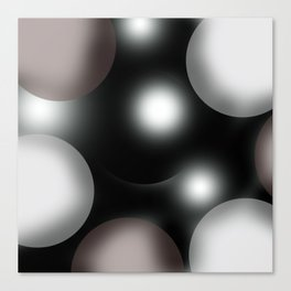 spherical space abstract geometrical digital painting Canvas Print