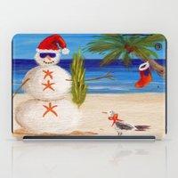 sandman iPad Cases featuring Christmas Sandman by Vivid Perceptions