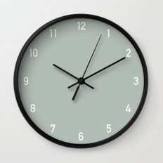 Numbers Clock - Ash Wall Clock