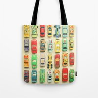 party Tote Bags featuring Car Park by Cassia Beck