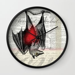 Bat Love by Kathy Morton Stanion Wall Clock