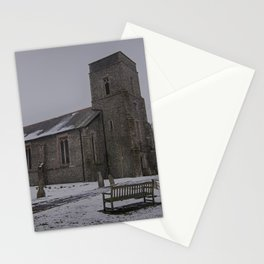 Dunkirk Church In Winter Stationery Cards
