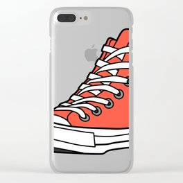 High-Top Sneakers Clear iPhone Case