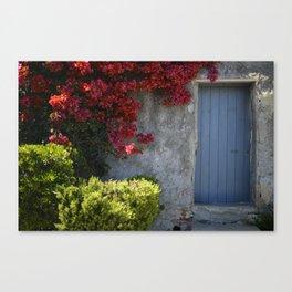Blue door French Riviera Canvas Print