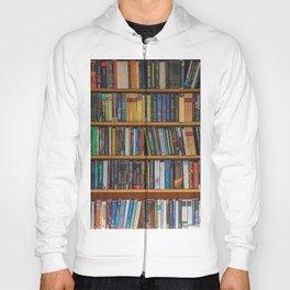 Bookshelf Books Library Bookworm Reading Pattern Hoody
