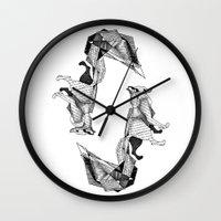 literature Wall Clocks featuring literature fox 3 by vasodelirium