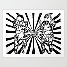 Rays of Fun Art Print