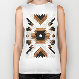 Urban Tribal Pattern 5 - Aztec - Concrete and Wood Biker Tank